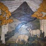 Deer Mural by Pile of Tile