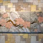 Flower Mural by Pile of Tile