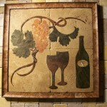 Wine Mural by Pile of Tile