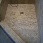 Travertine floor tile for Kerdi shower floor