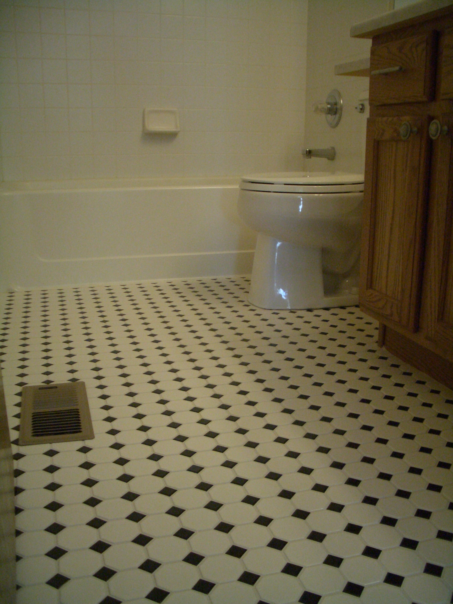 Octagonal mosaic tile floors with black dot in northern colorado octagonal mosaic tile floor installation with black dot in loveland co dailygadgetfo Gallery