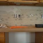 Installation Porcelain and Glass Kitchen Backsplash
