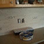 Porcelain and Glass Kitchen Backsplash Installation in Windsor
