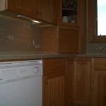 Porcelain and Glass Tile Kitchen Backsplash Installation in Windsor