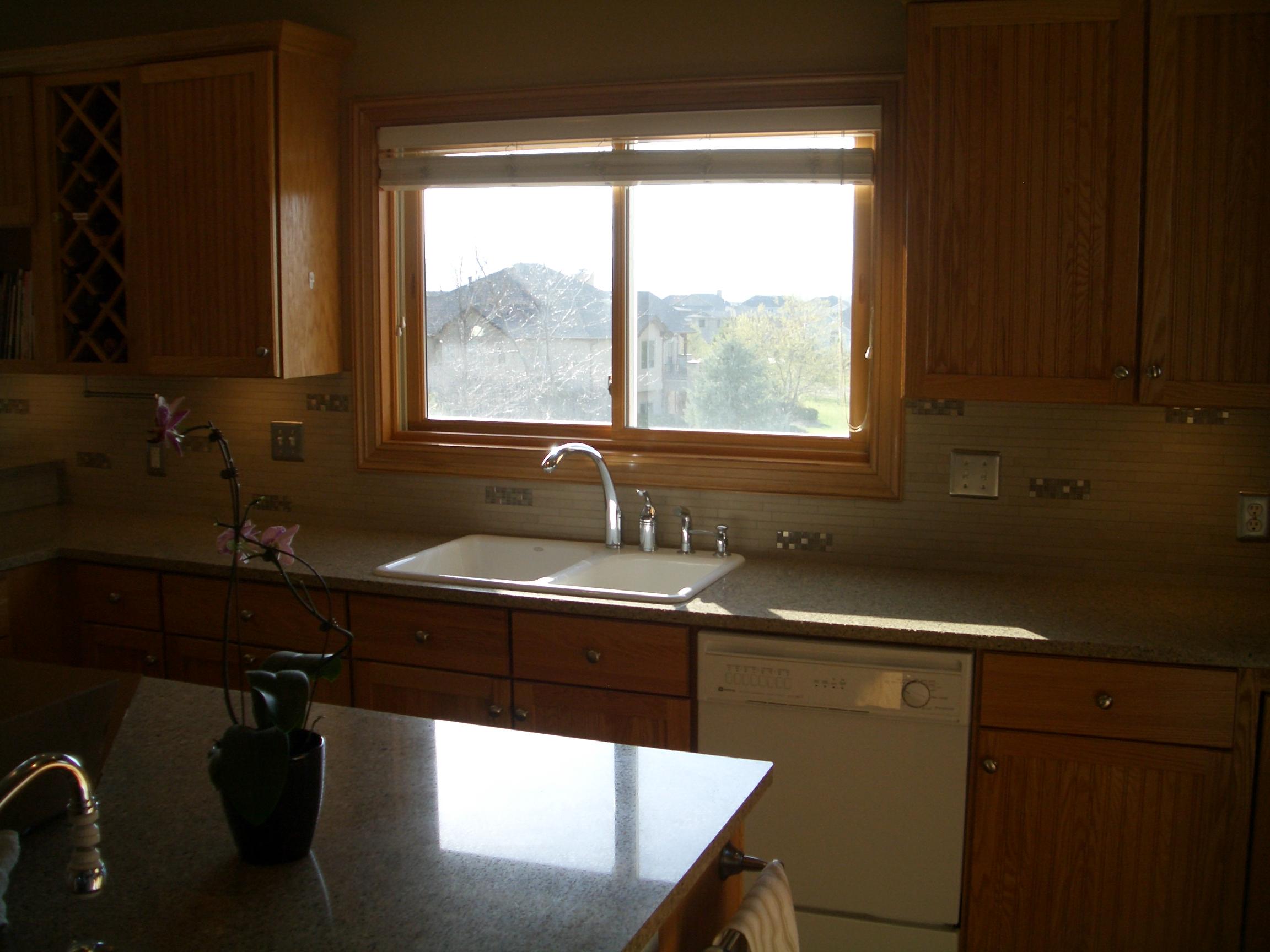 porcelain and glass kitchen backsplash in windsor