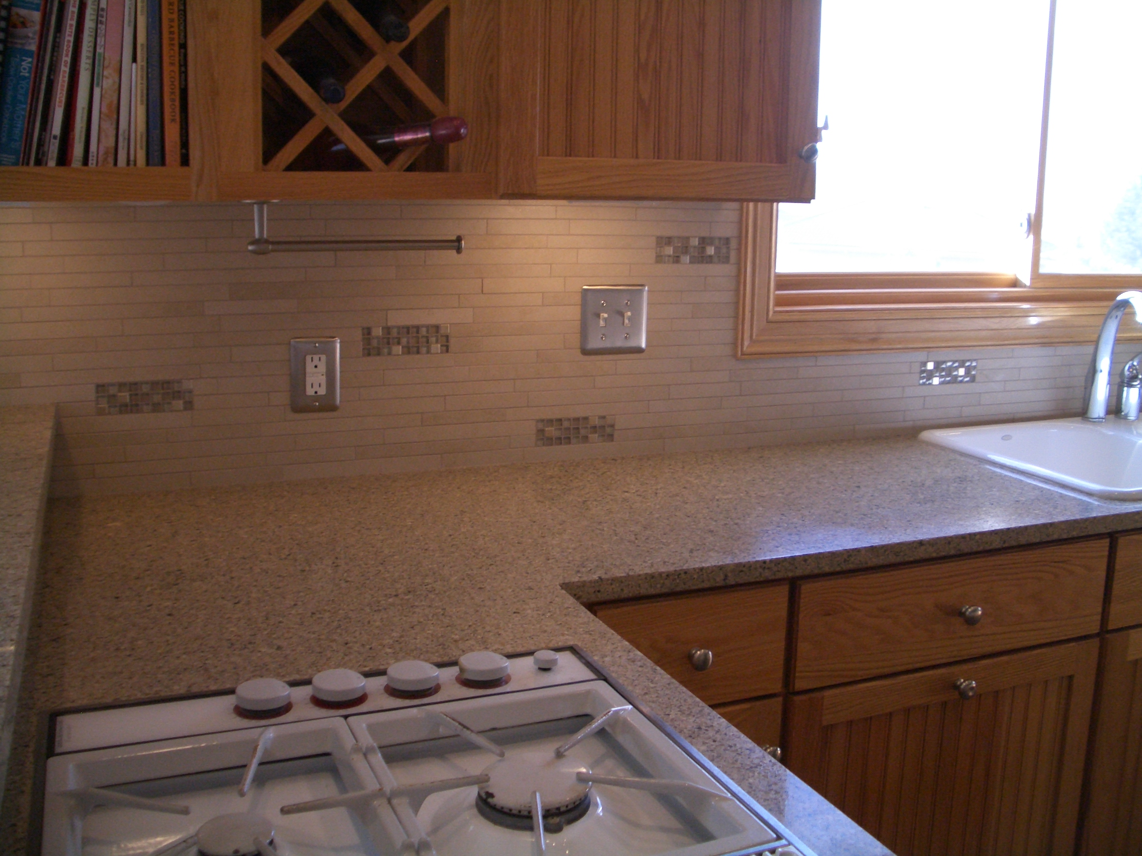 Kitchen Backsplash Accent Tiles Photos porcelain and glass kitchen backsplash in windsor