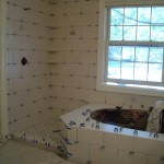 Kerdi shower tile installation in Fort Collins, Colorado