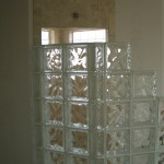 Glass Block radius wall installation in Loveland