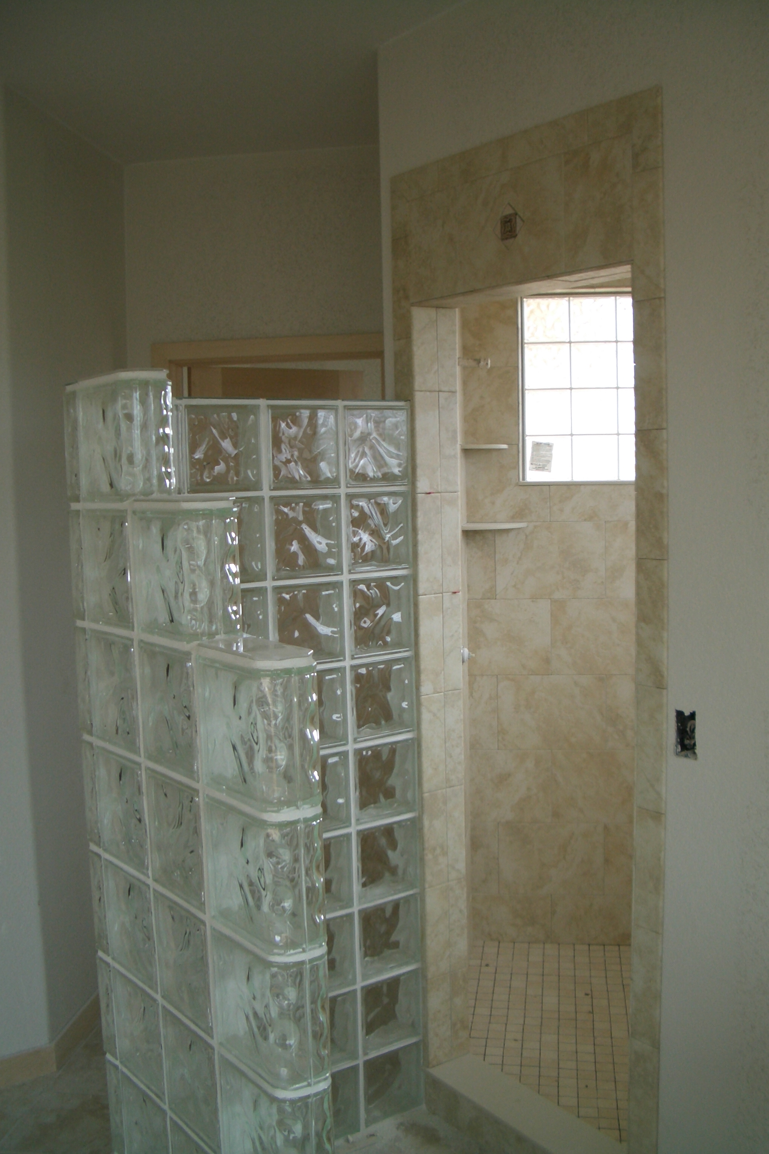 Shower upgrade options for Glass block options