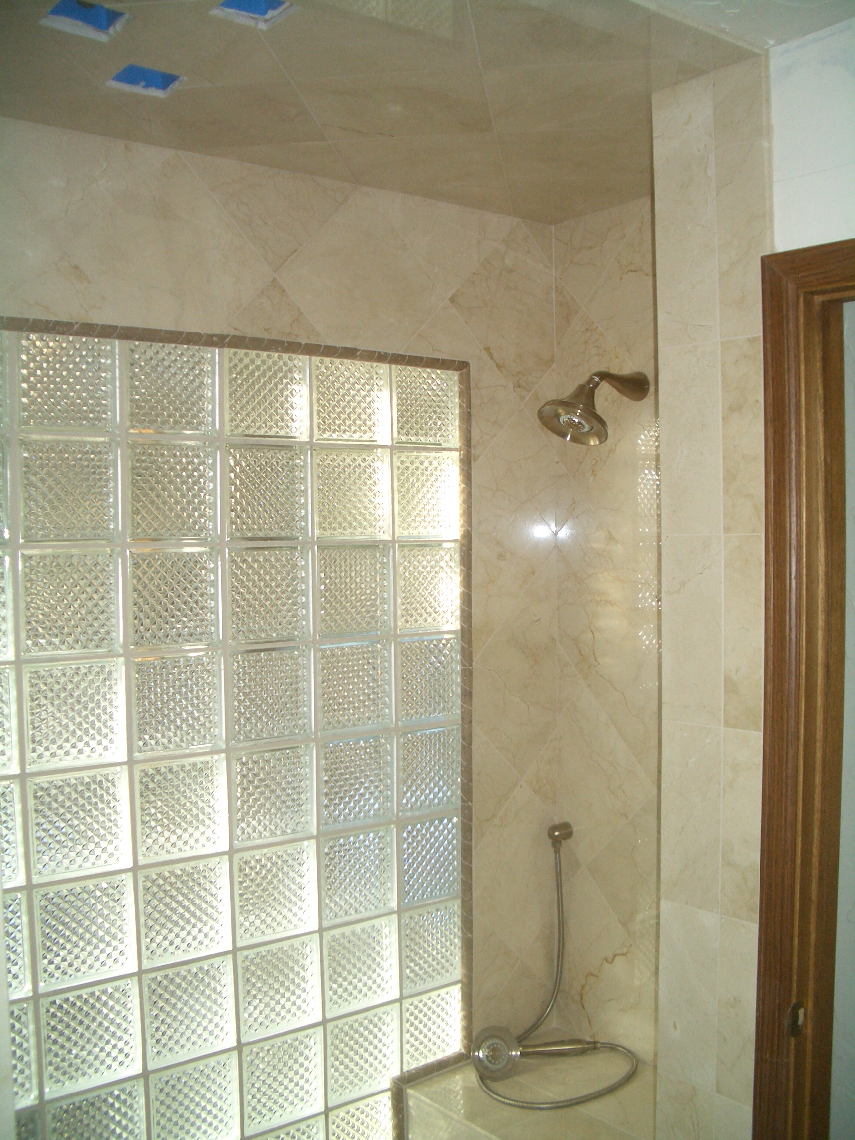glass block window wall installation in fort collins colorado