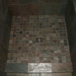 Slate kerdi master bathroom shower floor