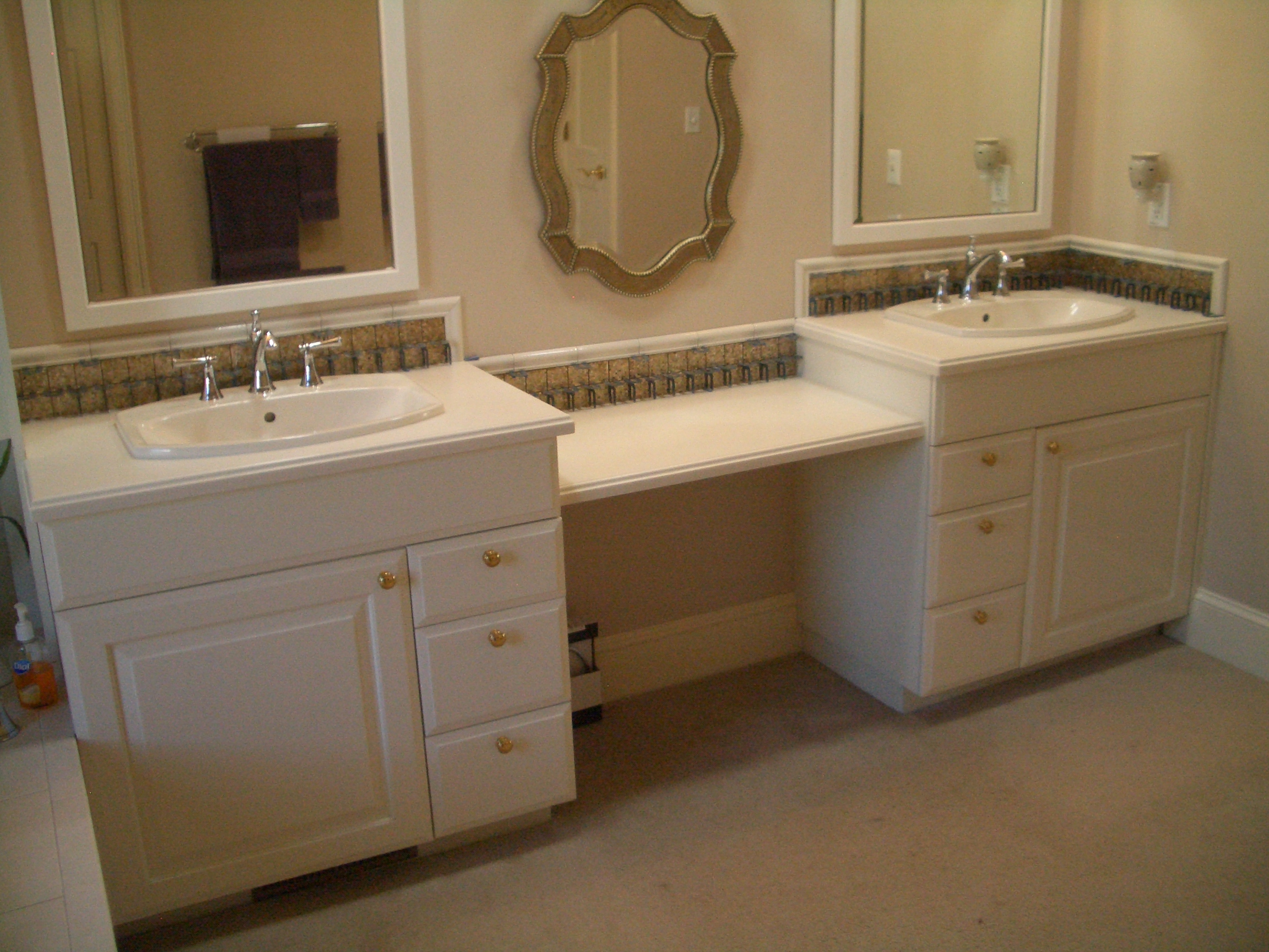 Amazing HOME DZINE Bathrooms  How To Tile A Bathroom Vanity