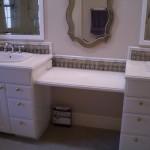 Bathroom Glass tile vanity backsplash in Fort Collins, CO