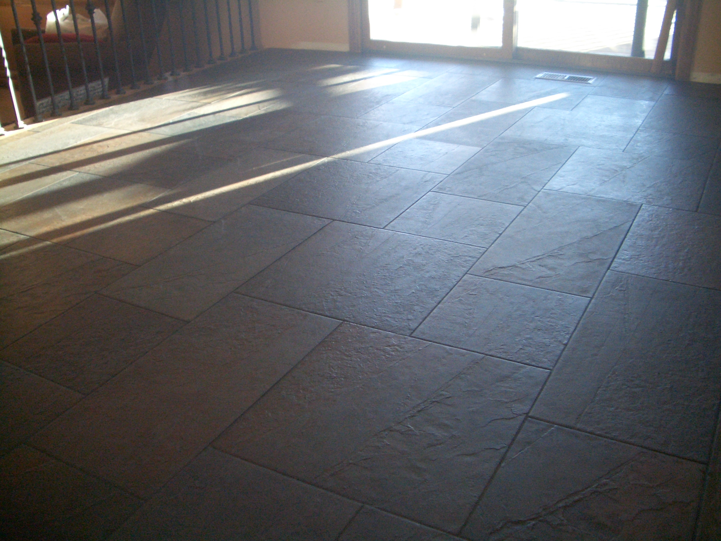 Slate Kitchen Floor Tiles Basketweave Patterned Porcelain Floor In Fort Collins