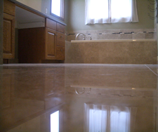 Marble master bathroom remodel in Fort Collins