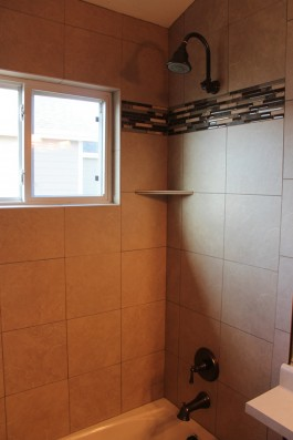 Porcelain and glass shower in Fort Collins