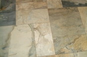 Porcelain master bathroom floor tile installation in Fort Collins, Colorado