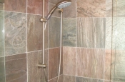 Slate shower tile installation in Northern Colorado
