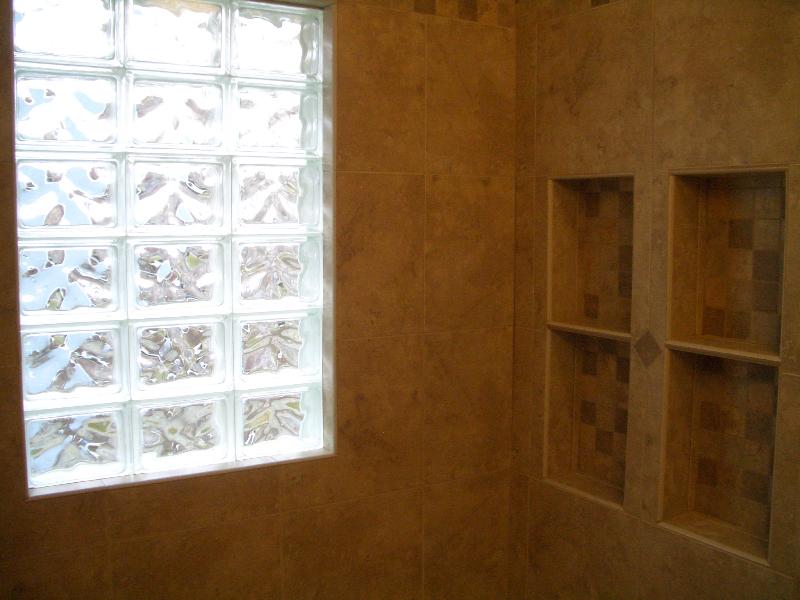 Porcelain shower tile installation in Fort Collins, Colorado