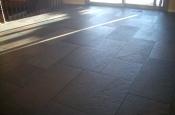 Porcelain floor tile instalation in Fort Collins, Colorado