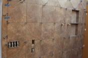 Porcelain tile master bathroom remodel in Fort Collins, Colorado _1598