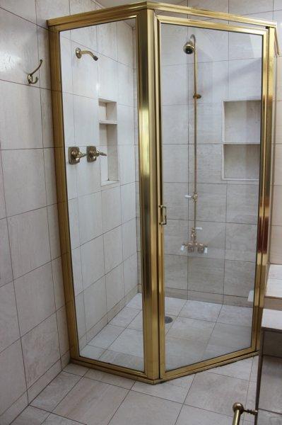 Porcelain tile master bathroom remodel in Fort Collins, Colorado _1469