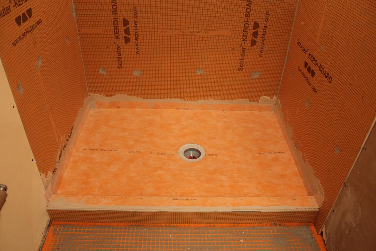 Schluter Kerdi-board and Kerdi shower waterproofing