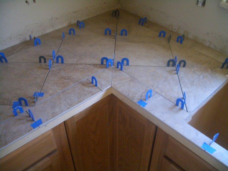 Ceramic Tile Kitchen Countertops and Backsplash | Tile Art ...