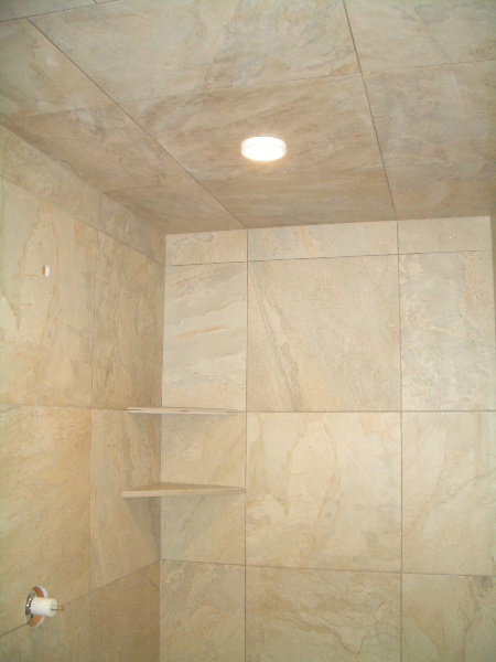 Shower tile completed