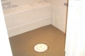 shower floor constructed