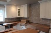 Limestone mosaic kitchen backsplash in Fort Collins_1897