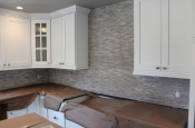 Limestone mosaic kitchen backsplash in Fort Collins_1931