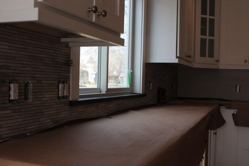 Limestone mosaic kitchen backsplash in Fort Collins_1837