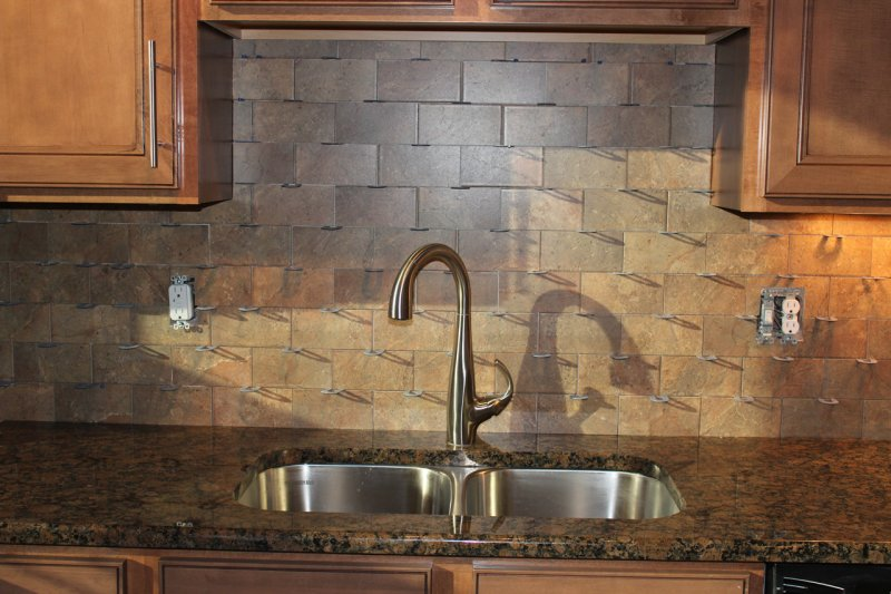 Porcelain Tile Kitchen Backsplash Home Design Wall