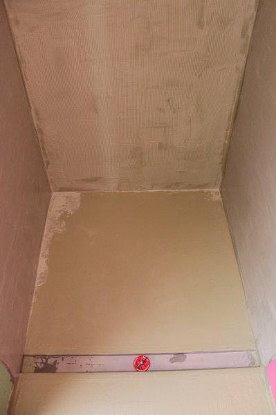 Hydroban shower waterproofing