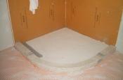 Kerdi-board shower with in-floor heat in Fort Collins