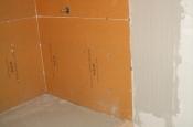 Kerdi-board master bathroom shower in Fort Collins