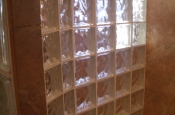 Glass block shower walls in Fort Collins, CO