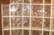 Glass block porcelain shower walls in Fort Collins, CO