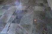 18 x 18 marble tile floor installation