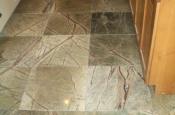 Marble floor tile installation
