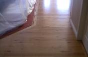 Before photo of wood floor