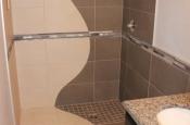 Custom porcelain shower in Fort Collins