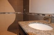 Custom porcelain, glass, metal shower