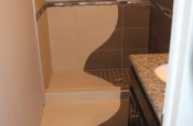 Continuous shower design