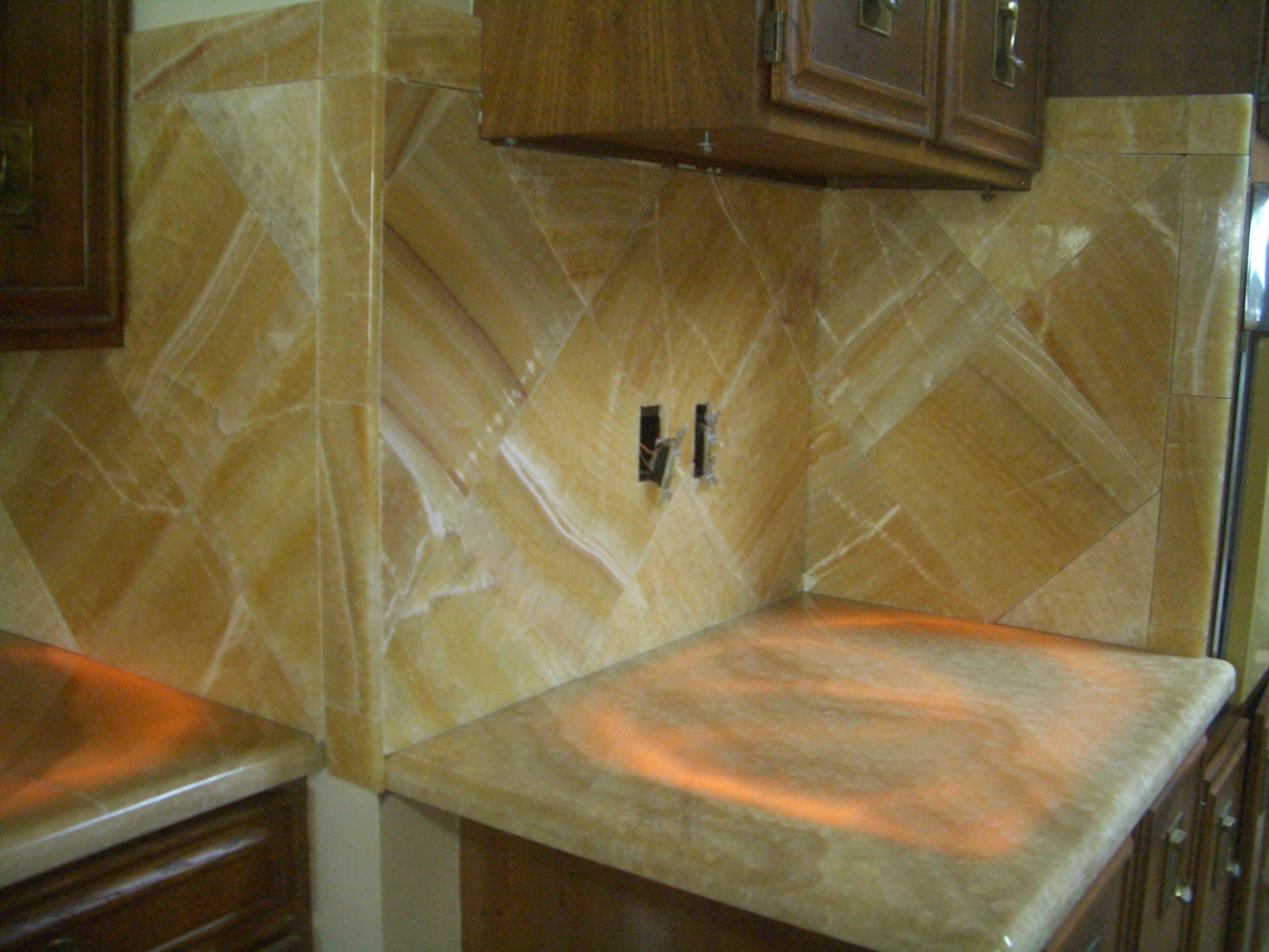 Onyx Kitchen Backsplash Tile Art Center