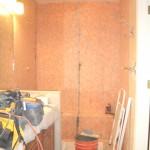 Kerdi membrane installed for master shower tile