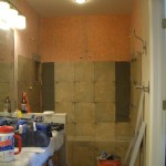 Installing tile in Kerdi shower in Fort Collins, CO