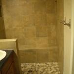 Full Kerdi master bathroom shower tile in Fort Collins