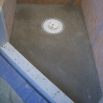 Pan fabricated for Kerdi master shower remodel
